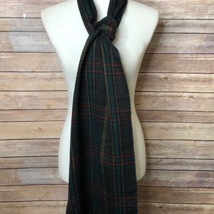 Plaid Scarf w/fringed ends
